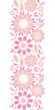 vector pink abstract flowers vertical seamless pattern