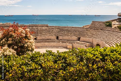 A view of the roman amphitheater in Tarragona, Spain