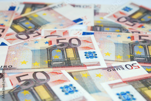 Foto op Aluminium Imagination banknotes in a row European Union Currency