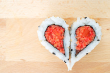 Two Pieces Of Sushi Forming Th...