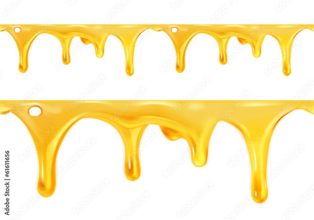 Fototapety, obrazy: Sweet honey drips seamless vector