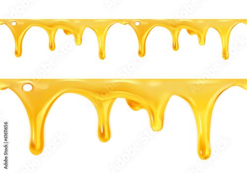 Valokuva  Sweet honey drips seamless vector