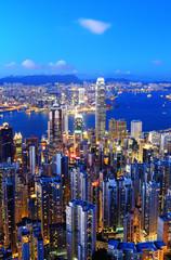 FototapetaHong Kong skyline at night