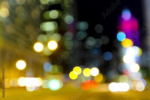 Fényképezés  Blurred unfocused city view at night