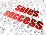 Marketing concept: Sales Success on alphabet background