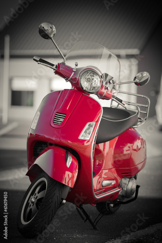 Foto op Canvas Scooter Scooter vintage