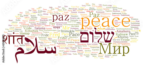 Photo  peace in different languages