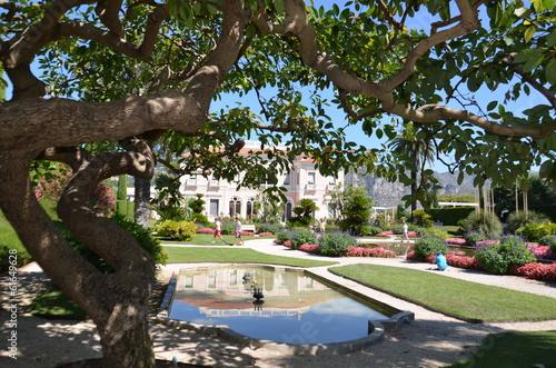 Fotografie, Obraz  villa Rothschild, Saint Jean Cap Ferrat, jardins