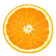 canvas print picture - orange slice isolated on white background
