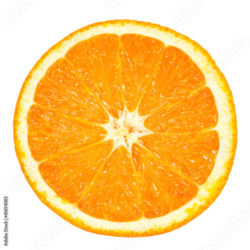 Fotografía  orange slice isolated on white background