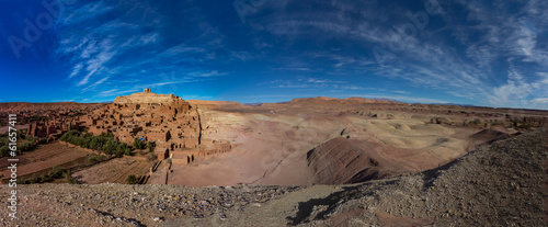 Poster Maroc Panorama of Ait Ben Haddou in Morocco