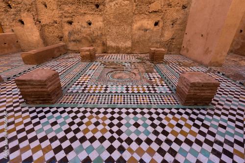 Foto op Plexiglas Marokko The Ruins of the Al Badia Palace in Marrakesh