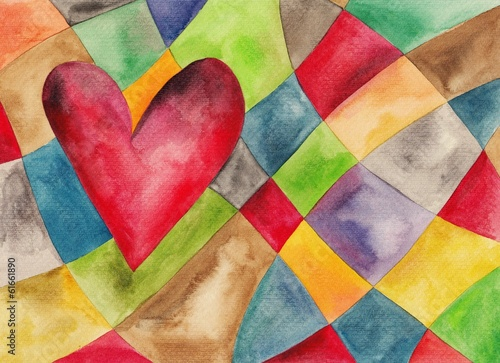 Fototapety, obrazy: Abstract watercolor art