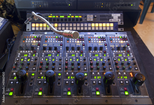 Vászonkép  microphone on the control panel