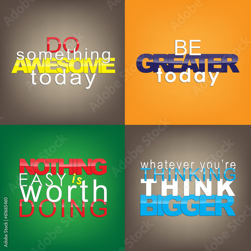 Set Of Motivational Quotes. Wallpaper Mural