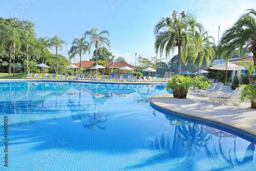 Fotografie, Obraz  リゾートホテルのプール
