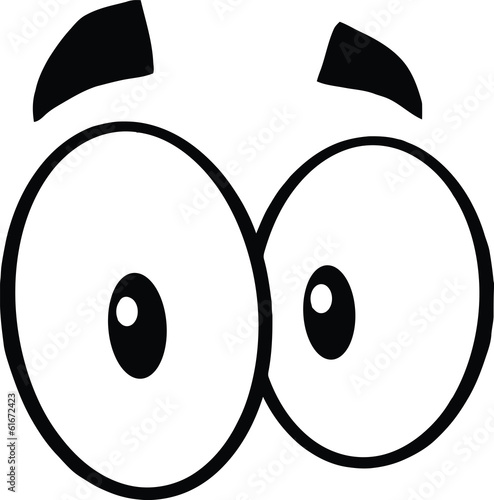 Photo Black And White Cute Cartoon Eyes