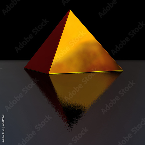 golden pyramid Canvas Print
