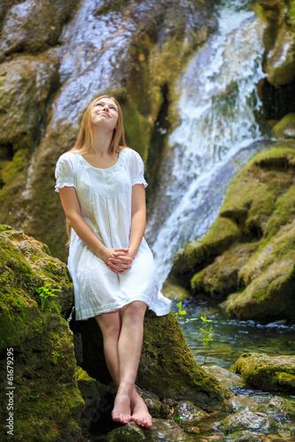 Cool waterfall Canvas Print