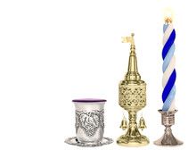 Havdalah Set.Wine Cup,gold Spi...