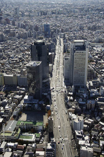 Fototapety, obrazy: Aerial view of Nakano-ku areas