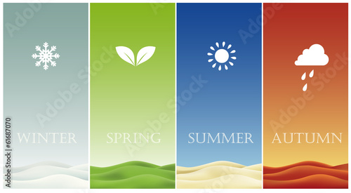 Fotomural Four Seasons cards