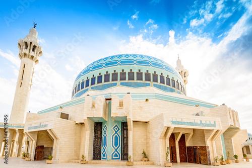 King Abdullah I Mosque in Amman, Jordan Canvas Print