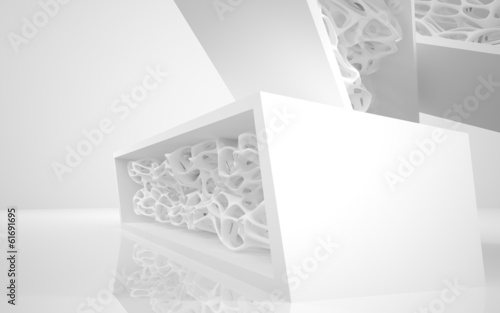 Zdjęcie XXL Architektura abstrakcyjna. Koncepcja architektury organicznej.