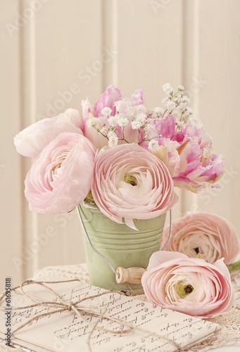 Foto-Lamellen (Lamellen ohne Schiene) - Pink flowers (von Elena Schweitzer)