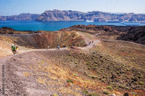 Foto op Plexiglas Vulkaan Santorini's Volcano