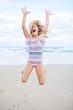 Young girl having fun at beach