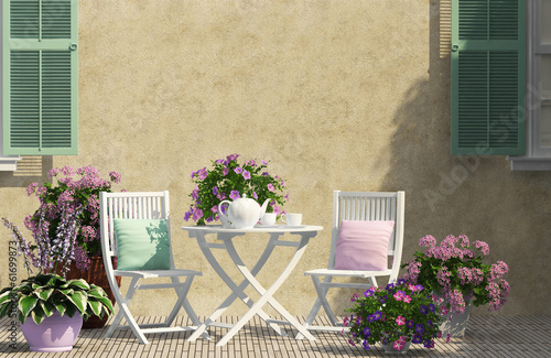 Papiers peints Jardin Beautiful terrace