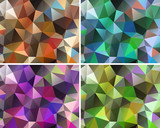 Set of abstract backgrounds polygonal