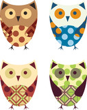 Cute Vector Collection of Owls - 61703001