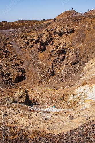 Tuinposter Vulkaan Crater of Santorini's Volcano
