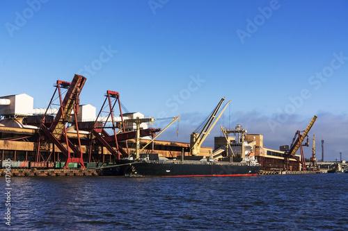 Foto op Canvas Rotterdam fragment of port