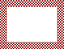Red And White Checkered Frame
