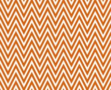 Thin Bright Orange And White Horizontal Chevron Striped Textured
