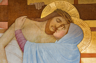 Fototapeta Vienna - Deposition of the cross in Carmelites church