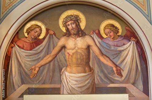 Vienna - fresco of Resurrected Christ in Carmelites church