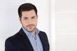 canvas print picture Portrait: gut aussehender erfolgreicher Business Mann