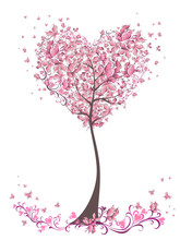 Tree Of Love With Leaves From ...