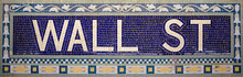 Wall Street Subway Sign Tile P...