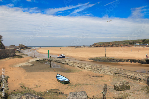 Beautiful Sandy Beach in Bude Cornwall England Poster