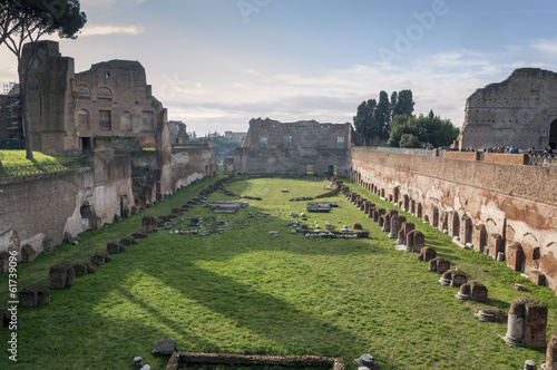 Valokuva  Hippodrome of Domitian on the Palatine Hill, Rome, Italy