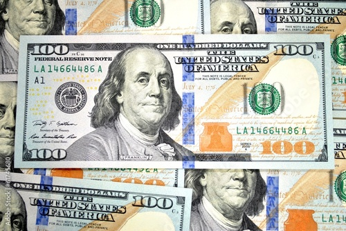 Poster Background of American 100 Dollar Bills