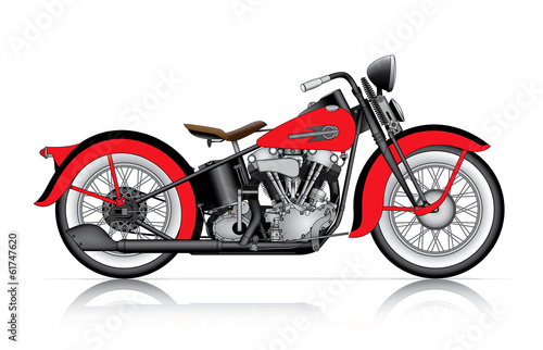 Photographie red classic motorcycle