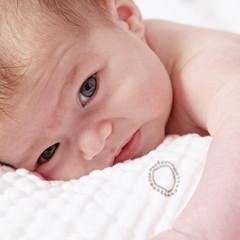 Adorable little newborn baby girl