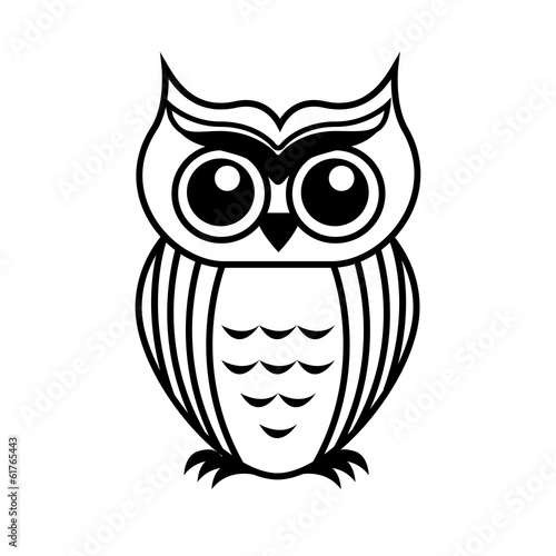 Deurstickers Uilen cartoon owl design