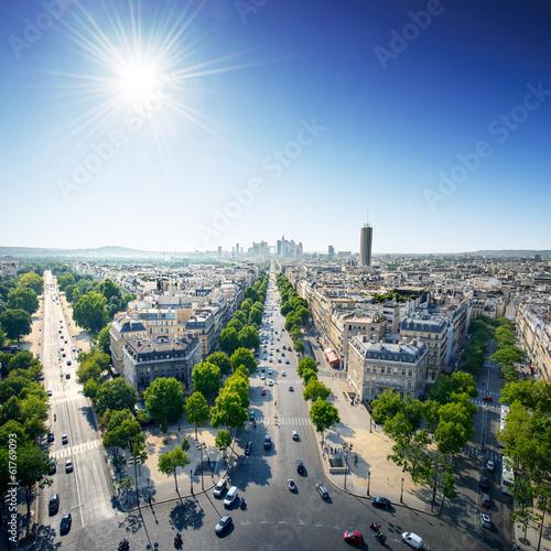 Paris city center at day - France / Europe Wallpaper Mural